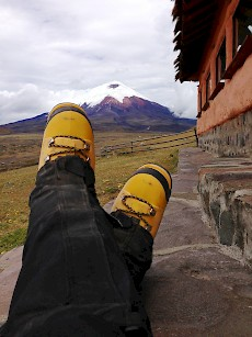 Ecuador - Relaxing after a successful summiting of Mt. Cotopaxi
